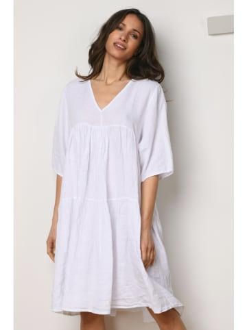 La Fabrique du Lin Kleid in Weiß