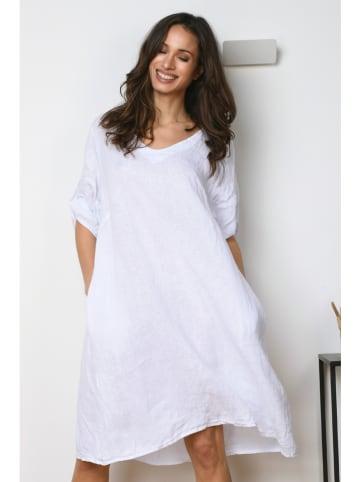 """La Compagnie Du Lin Lniana sukienka """"Rose"""" w kolorze białym"""