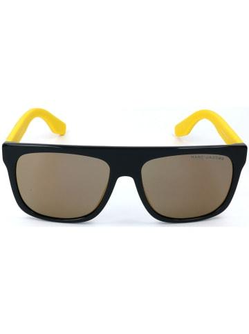 Marc Jacobs Męskie okulary przeciwsłoneczne w kolorze czarno-jasnobrązowo-żółtym