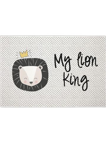 """Naf Naf Dywan """"My lion king"""" w kolorze biało-czarnym - 150 x 100 cm"""