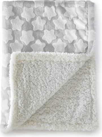 Naf Naf Kuscheldecke in Grau/Weiß - (L)110 x (B)140 cm