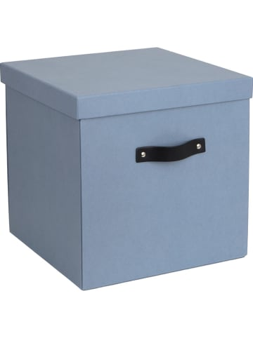 "BigsoBox Opbergbox ""Logan"" lichtblauw - (B)31,5 x (H)31 x (D)31,5 cm"