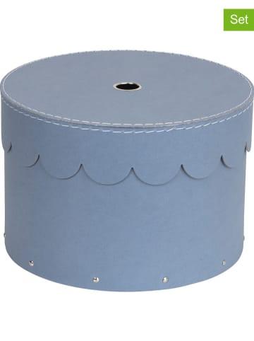 """BigsoBox Pudełka (2 szt.) """"Wilma"""" w kolorze błękitnym"""