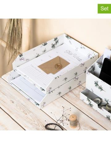 BigsoBox Pudełka (2 szt.) w kolorze białym
