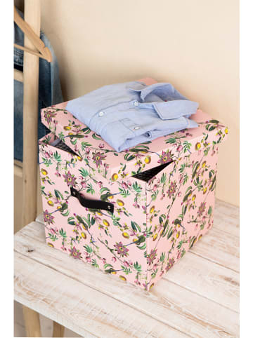 "BigsoBox Aufbewahrungsbox ""Logan"" in Rosa/ BUnt - (B)31,5 x (H)31 x (T)31,5 cm"
