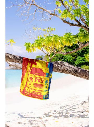 """Calitex Ręcznik plażowy """"Surf"""" w kolorze żółto-czerwonym"""