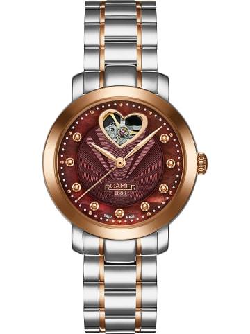 Roamer Automatisch horloge zilverkleurig/roségoudkleurig/bruin