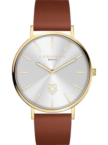 Liebeskind Zegarek kwarcowy w kolorze brązowo-złoto-srebrnym