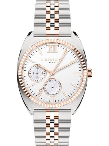 Liebeskind Zegarek kwarcowy w kolorze srebrno-różowozłotym