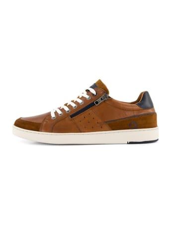 """TRAVELIN' Skórzane sneakersy """"Hereford"""" w kolorze jasnobrązowym"""