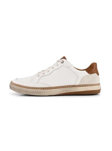 """TRAVELIN' Skórzane sneakersy """"Northampton"""" w kolorze białym"""