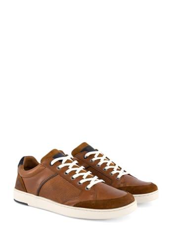 """TRAVELIN' Skórzane sneakersy """"Shirlett"""" w kolorze jasnobrązowym"""