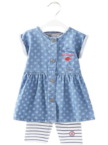 Lee Cooper 2-delige outfit lichtblauw/wit