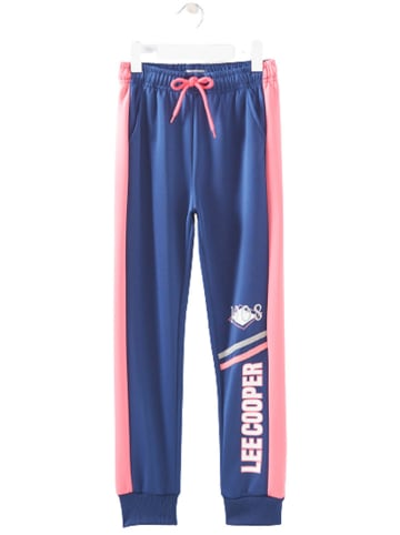 Lee Cooper Spodnie dresowe w kolorze jasnoróżowo-niebieskim