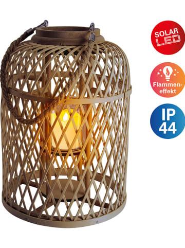 Näve Lampa solarna LED w kolorze brązowym - wys. 38 cm