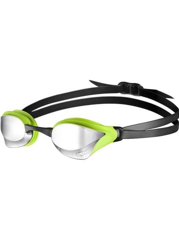 """Arena Okulary """"Cobra Core Mirror"""" w kolorze czarno-zielonym do pływania"""