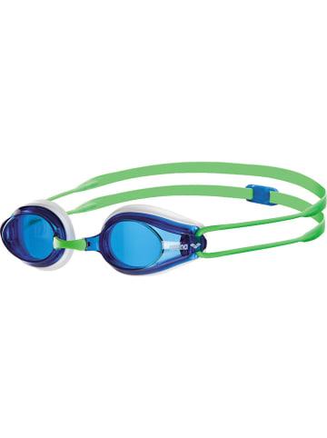 """Arena Okulary """"Tracks"""" w kolorze zielono-niebieskim do pływania"""