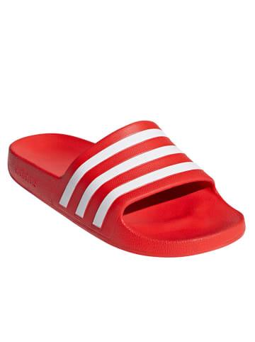 "Adidas Badeschuhe ""Adilette Aqua"" in Rot"