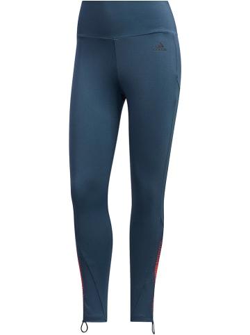 Adidas Legginsy sportowe w kolorze granatowym