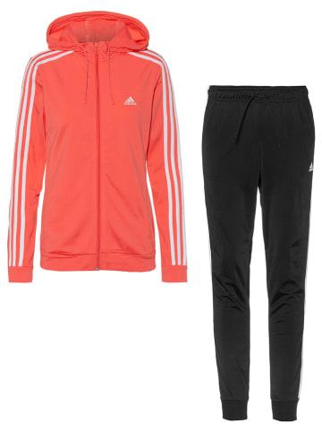 Adidas 2-częściowy strój sportowy w kolorze czerwono-czarnym