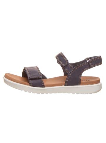 """Ecco Skórzane sandały """"Flora"""" w kolorze granatowym"""