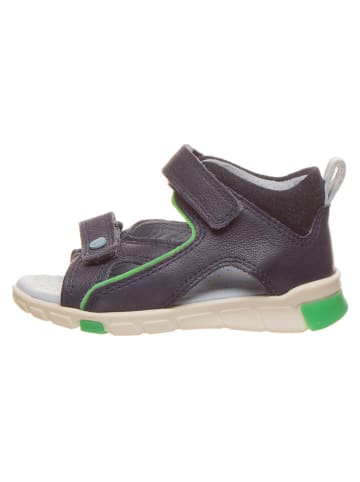 """Ecco Skórzane sandały """"Mini Stride"""" w kolorze granatowym"""