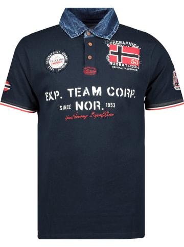 """Geographical Norway Koszulka polo """"Koptaine"""" w kolorze granatowym"""