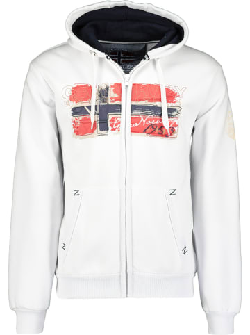 """Geographical Norway Sweatvest """"Gayto"""" wit"""