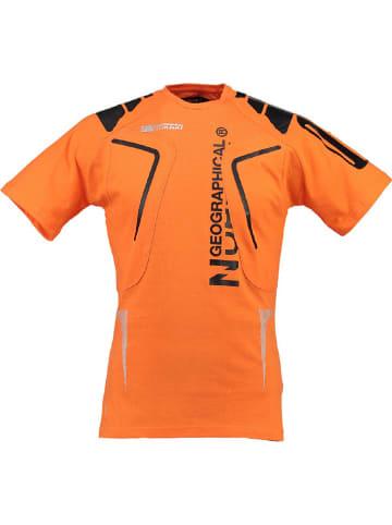 """Geographical Norway Shirt """"Jangata"""" oranje"""