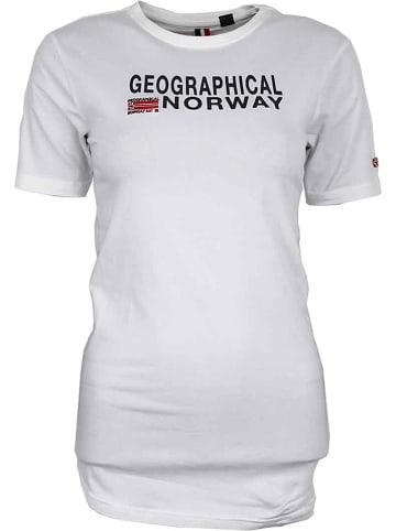 """Geographical Norway Koszulka """"Jieppe"""" w kolorze białym"""