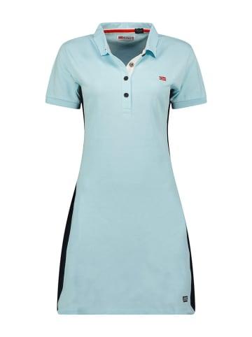 """Geographical Norway Sukienka polo """"Kolivia"""" w kolorze błękitnym"""