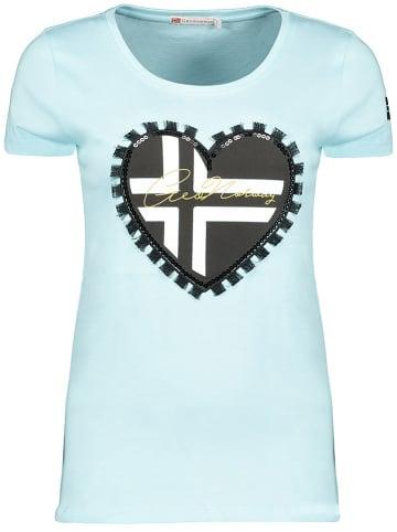 """Geographical Norway Koszulka """"Jeduction"""" w kolorze błękitnym"""