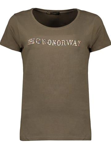 "Geographical Norway Koszulka ""Jefolly"" w kolorze khaki"