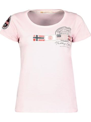 """Geographical Norway Koszulka """"Jorama"""" w kolorze jasnoróżowym"""