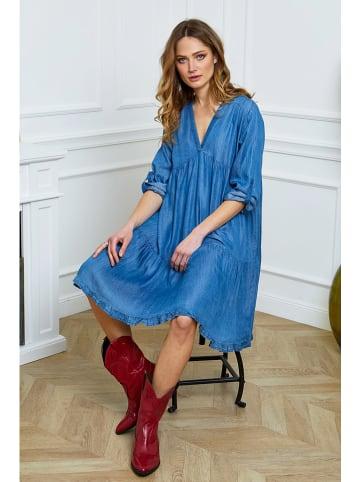 """Joséfine Sukienka """"Moreno"""" w kolorze niebieskim"""