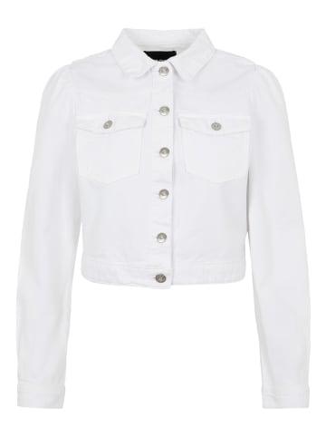 """Pieces Dżinsowa kurtka """"Pcgreyson"""" w kolorze białym"""