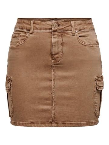 """ONLY Spódnica """"Missouri"""" w kolorze jasnobrązowym"""