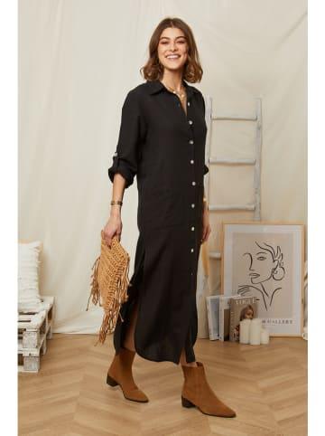 Rodier Lin Linnen jurk zwart