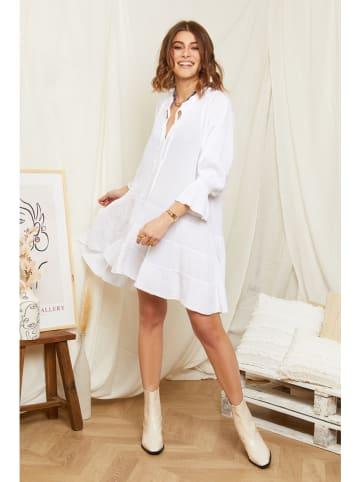 Rodier Lin Linnen jurk wit