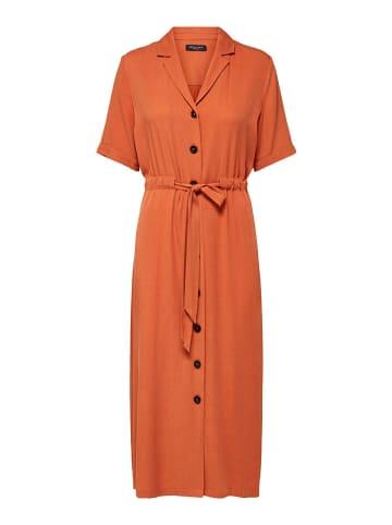 """SELECTED FEMME Sukienka """"Slfcally"""" w kolorze pomarańczowym"""