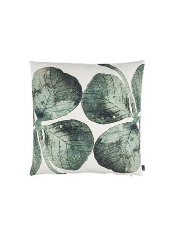 Eightmood Poszewka w kolorze biało-zielonym ze wzorem - (D)50 x (S)50 cm
