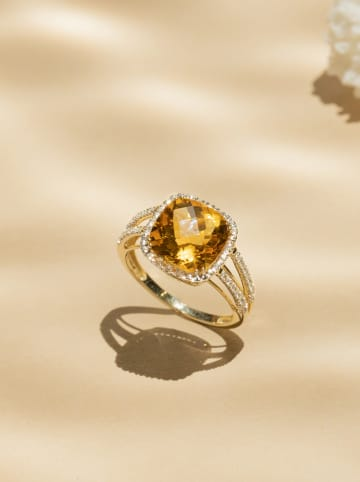 "DIAMANTA Gouden ring ""Divine"" met diamanten"