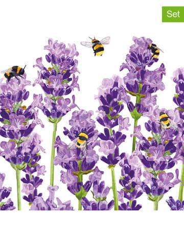 """Ppd Serwetki (40 szt.) """"Bees & Lavender"""" w kolorze fioletowym - 2 x 20 szt."""