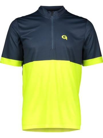 "Gonso Fietsshirt ""Oscar"" donkerblauw/geel"