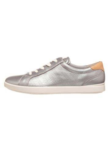 """Ecco Skórzane sneakersy """"Leisure"""" w kolorze srebrnym"""