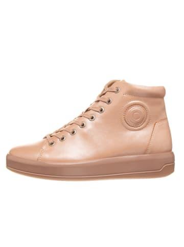 """Ecco Skórzane sneakersy """"Soft 9"""" w kolorze beżowym"""