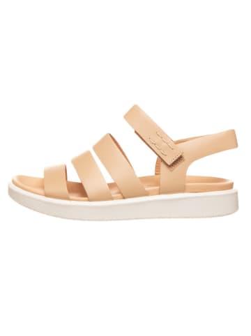 "Ecco Leren sandalen ""Flowt Lx W"" beige"