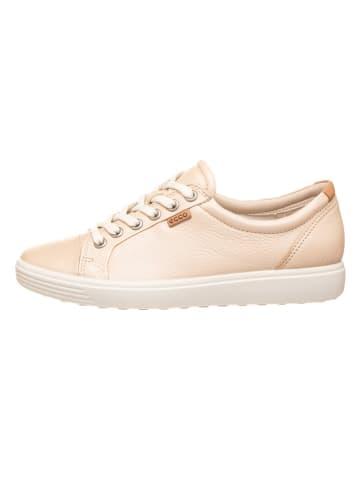 """Ecco Skórzane sneakersy """"Soft 7 W"""" w kolorze beżowym"""