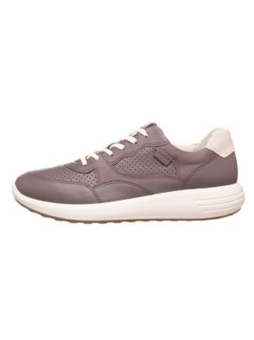 "Ecco Skórzane sneakersy ""Soft 7 Runner W"" w kolorze fioletowym"
