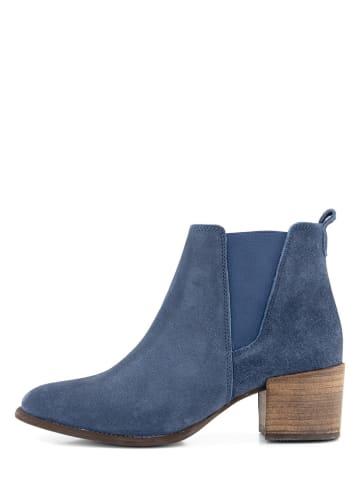 """NoGRZ Leder-Ankle-Boots """"G.Quarenghi"""" in Blau"""
